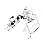 sleepy demonic being